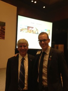 Governor Snyder and I at the Beijing Reception - September 11, 2013